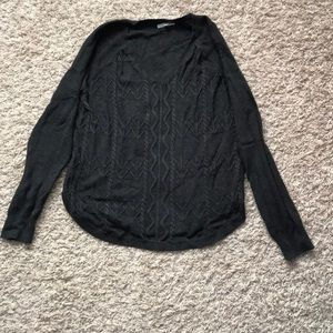 Charcoal grey cable knit sweater